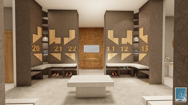 Co-living engagement redefined by exploding the concept of the changing rooms and the wardrobe area.