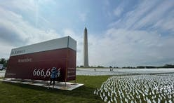 Artist Suzanne Brennan Firstenberg's moving Covid memorial opens on the National Mall