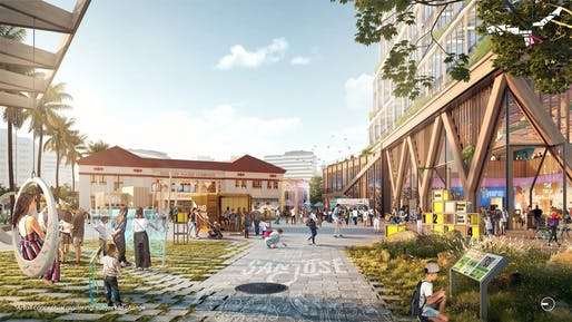 """The law was signed by Gov. Newsom at the site of Google's Downtown West development, <a href=""""https://archinect.com/news/article/150265339/google-wins-approval-for-downtown-west-mega-campus-in-san-jose"""">granted approval last week</a>"""