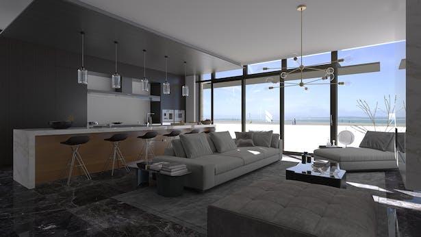 Living / Kitchen Daylight