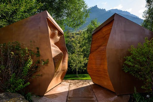 The public vote in the annual Cintas America's Best Restroom Contest decided that the tiny Rocky Mountain town of Minturn, Colorado has the country's nicest lavatory. (Image: Cintas)