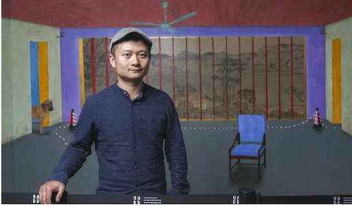 Chinese French artist Hu Jiamin insists his piece is not strictly a political work. Photo: SCMP