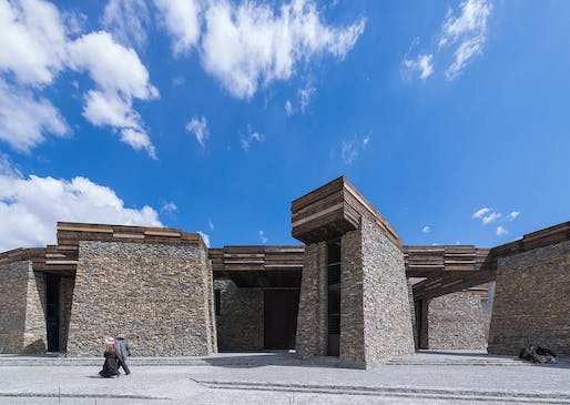 Young Professionals special award: Jianamani Visitor Center, Yushu, China​ by Atelier TeamMinus. Photo: Bu Lai En.