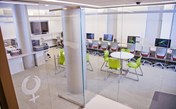 Media Space - View from Lobby, The Archer School for Girls