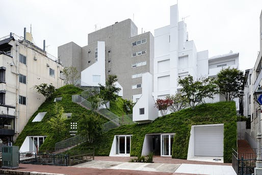 The new Shiroiya Hotel combines two contrasting typologies in its revitalization. Photo by Shinya Kigure