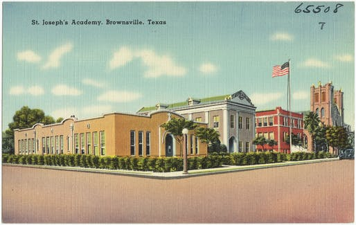 Postcard view of Brownsville, Texas, one of the communities that will be investigated by the editorial teams.The Tichnor Brothers Collection / Boston Public Library, Print Department.