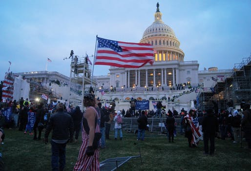 Storming of the United States Capitol on January 6, 2021. Photo: Tyler Merbler/Flickr