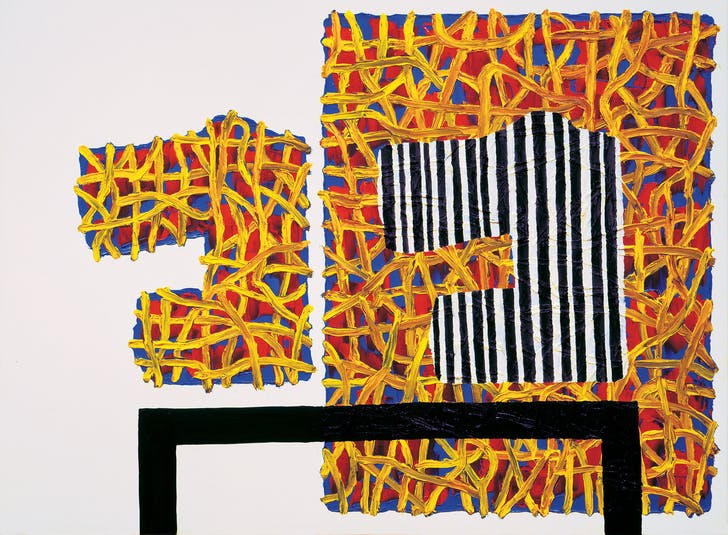 Figure 5. 'Domestic Arrangement' by Jonathan Lasker © Johnathan Lasker. Image via Fresh Meat.
