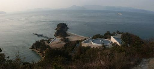 Overlooking Benesse House in Naoshima and Seto Inland Sea