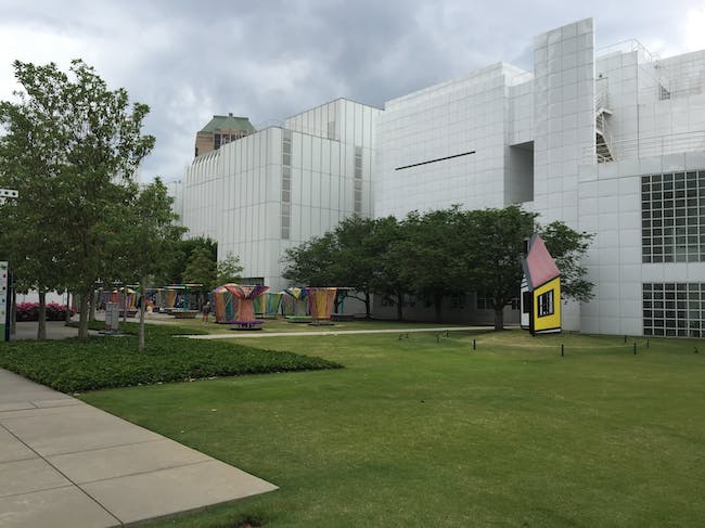 Outside the High Museum. Photo by Paul Petrunia.