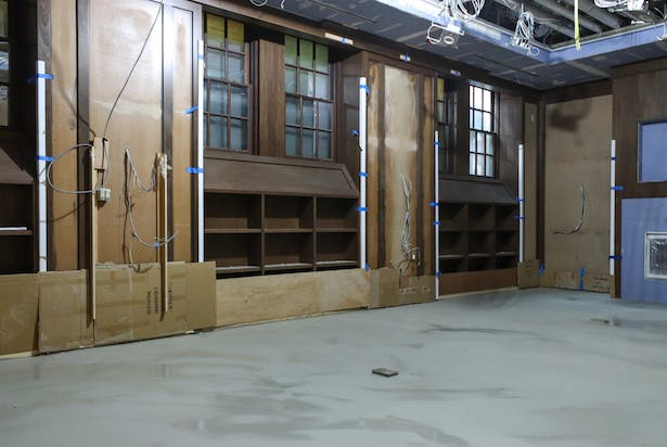 View of the Library construction area