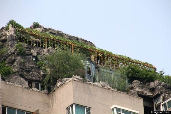 Zhang Lin Builds His Dream Mountain Home... On Top Of A Beijing Apartment Building