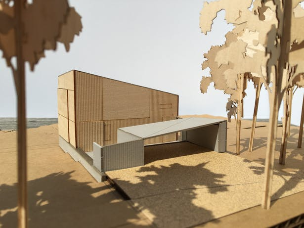 Black Point Beach House - Model (Faulkner Architects)