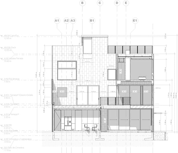 Section plan. PAUL CREMOUX studio