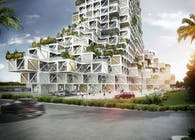 rgg Architects unveils plans for its first project in Dubai, a building that challenges Dubai's vertical urban density with its permeability and multiple uses: Dubai Nhabitat
