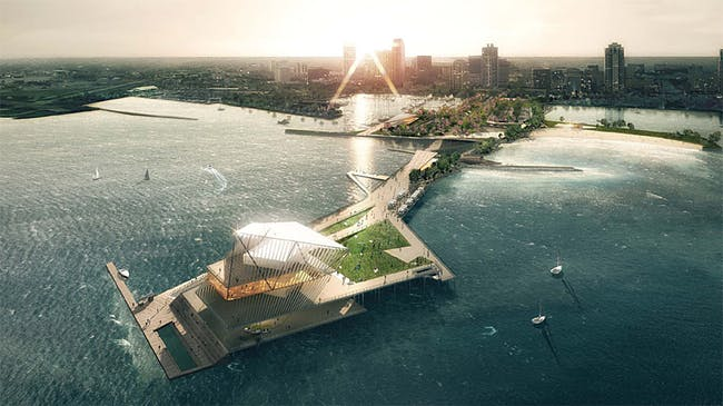'The Pier Park' by Rogers Partners Architects+Urban Designers, ASD, and Ken Smith. Rendering: LUXIGON