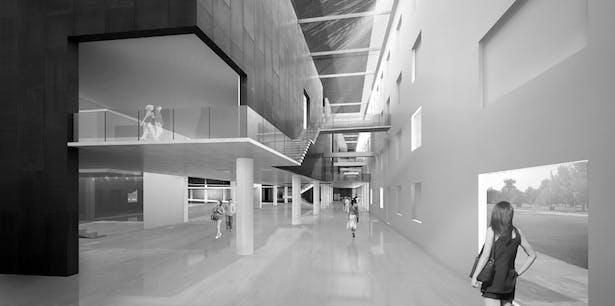 AQSO arquitectos office. Industrial museum. Interior