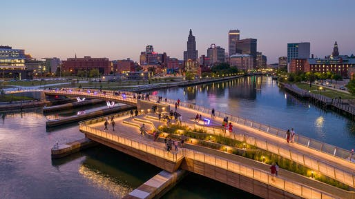 Providence River Pedestrian Bridge. Photo: Kroo Photography.