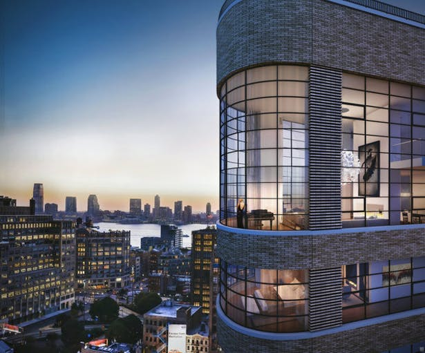 Rendering of Penthouse exterior