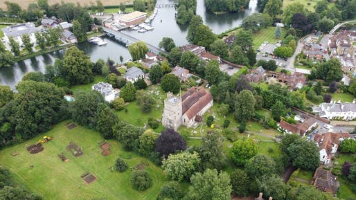 The remnants of an 8th-century monastery have been uncovered along the Thames, next to Holy Trinity Church in the Berkshire village of Cookham. All Photos: Courtesy University of Reading