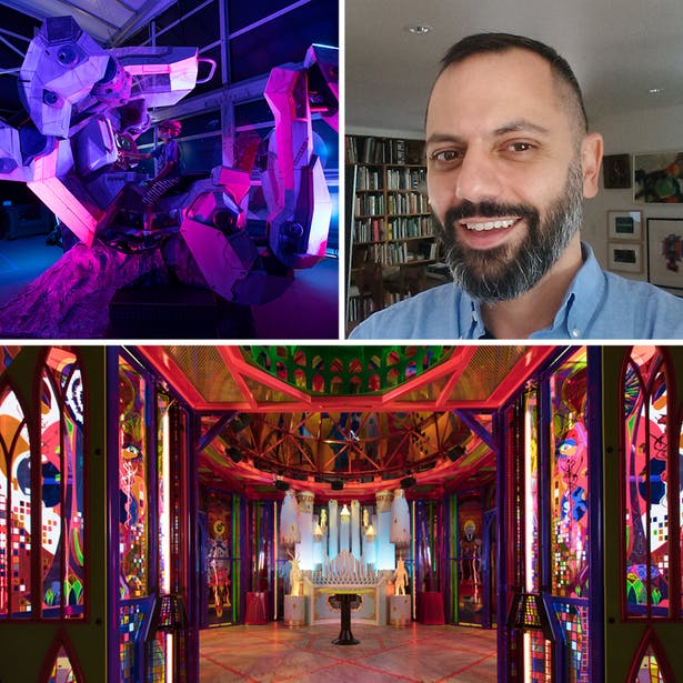 IMAGES clockwise from upper left * The Navigator, design by MEOW WOLF, photographed by Kate Russell * Anthony Guida * Kaleidoscopic Cathedral, design by MEOW WOLF, photographed by Kate Russell
