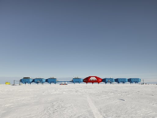 The British Halley VI research station, designed by Hugh Broughton Architects, opened in 2013. Photo: James Morris.