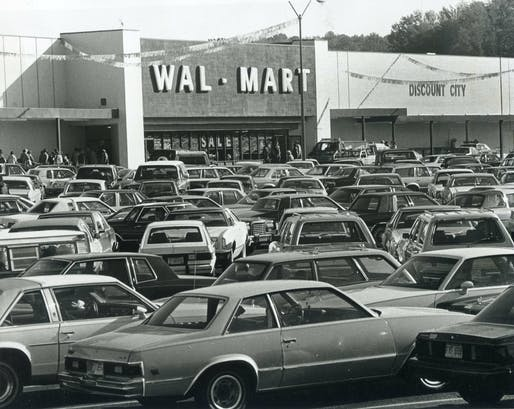 Wal-Mart opening, Huffman, Alabama, 1984. Image courtesy of Phillip Pessar/Flickr