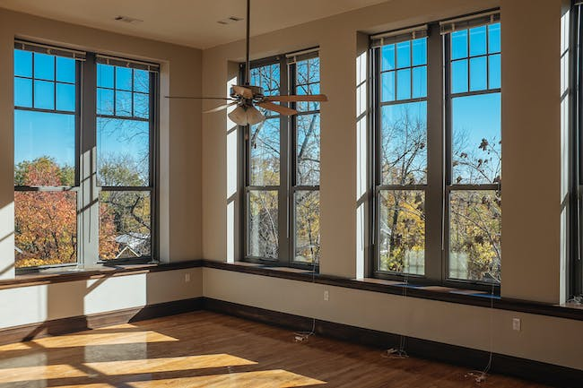 Apartment interior, Bancroft School project. Photo credit Matt Kleinmann.
