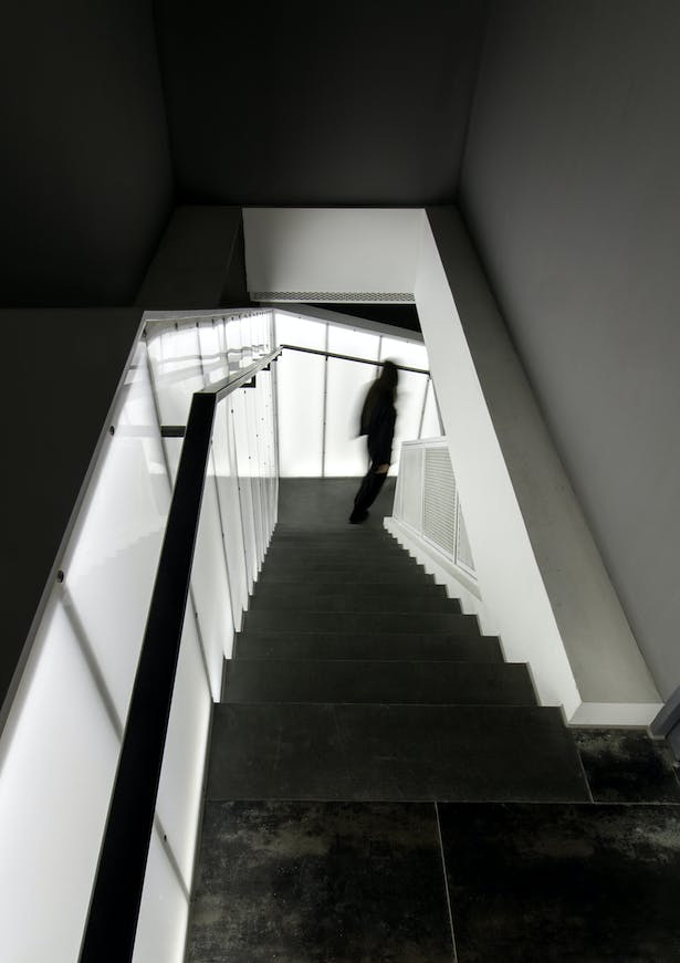 Staircase down to 2nd floor