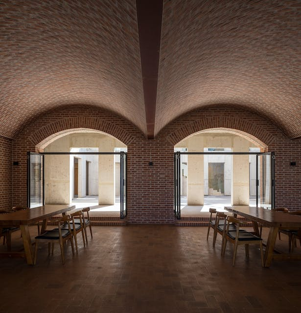 View to courtyard from ground floor cafe © Su Shengliang