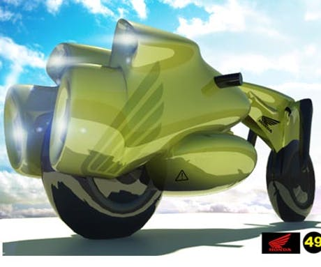 The Orion. The greenest bike in the USA. (Side view)