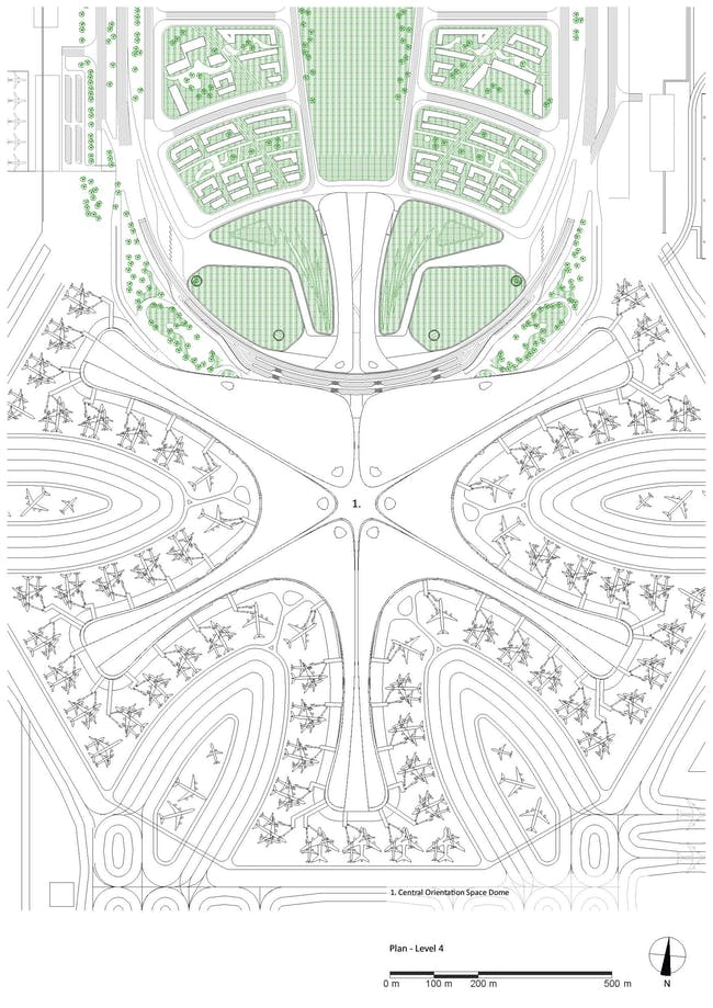 Plan - Roof. Courtesy of Zaha Hadid Architects.
