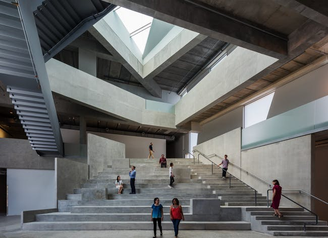 The forum inside the Glassell School of Art, designed by Steven Holl Architects. Photo © Richard Barnes.