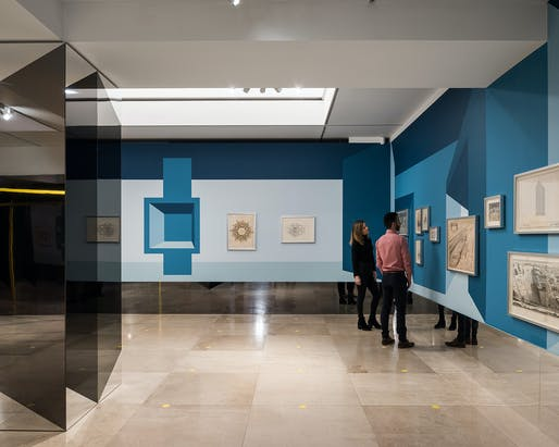 'Disappear Here' installation at RIBA Architecture Gallery by Sam Jacob Studio. Image: Andy Matthews.