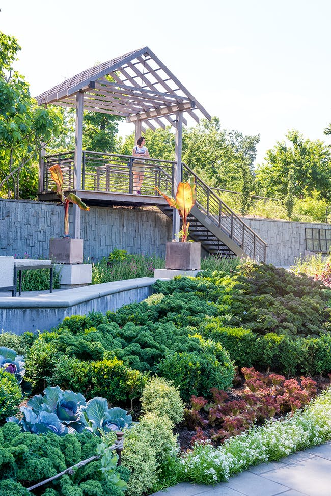 Brooklyn Botanical Herb & Vegetable Garden in Brooklyn, NY by Land Morphology