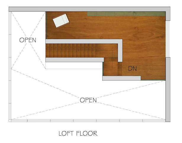 Loft Floor plan_ rendering