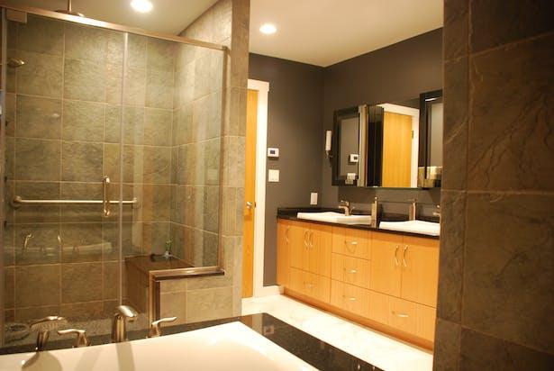 Post construction master bathroom
