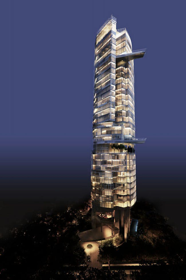 Ardmore 'Sculptura' residential tower in Singapore (in progress) by Carlos Zapata Studio. Image courtesy of Carlos Zapata Studio.