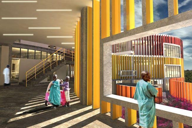 Redemption Pediatric Hospital (under construction) - Monrovia, Liberia by MASS Design Group. Image © MASS Design Group