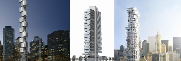 Comparison of 3 highrise projects, 2005 & 2013