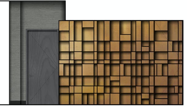 Elevation 2 - Reception Feature Wall