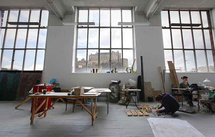 Architecture studio, with castle view. Image via University of Edinburgh.