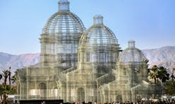 More photos of Edoardo Tresoldi's wire mesh cathedrals at Coachella
