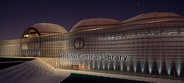 Library - Nocturnal view