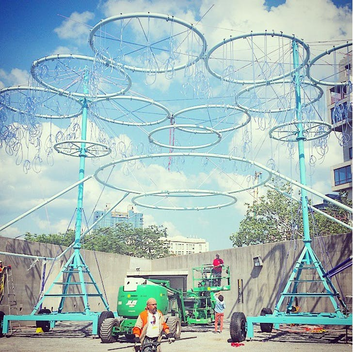 'COSMO, structure achieved. Now plumbing!' via Instagram @ andres_jaque