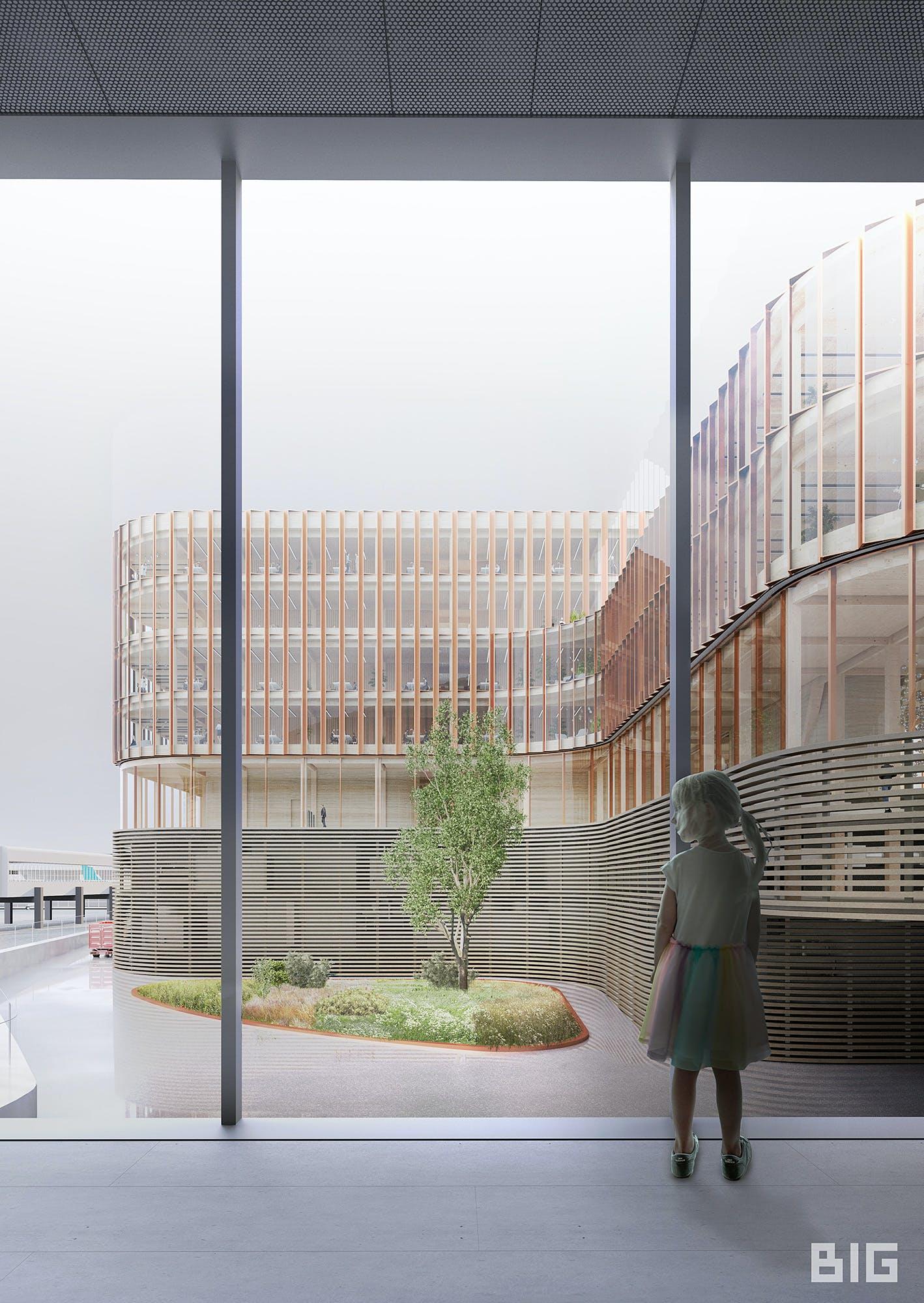 Big Amp Metaform Design A Wooden Office Building At