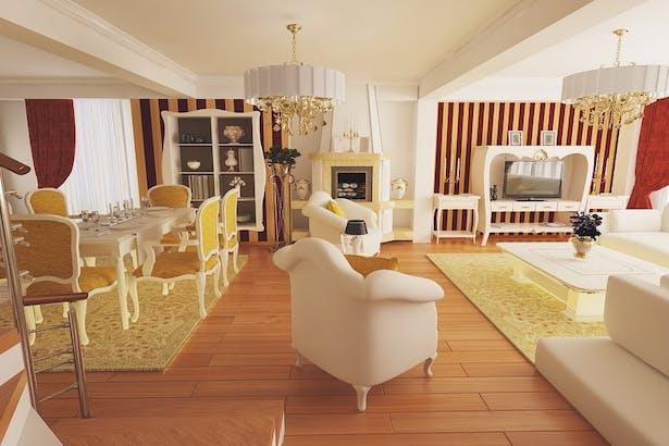 Casa clasica amenajata cu materiale de lux