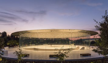 New photos of the 'floating' carbon fiber roof Foster + Partners designed for Apple