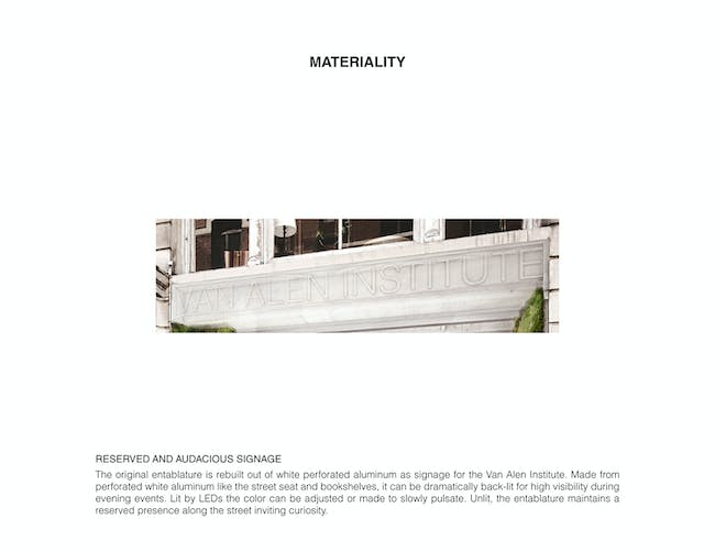Materiality. Ground/Work Competition Finalist Entry by Of Possible Architectures. Image courtesy of OPA.