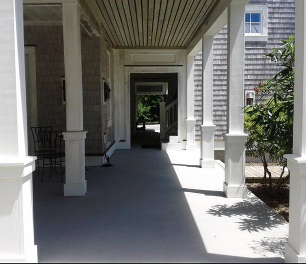 COVERED WALKWAY FROM PARKING